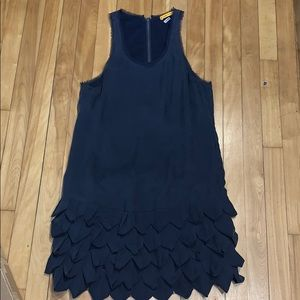 Alice + Olivia Navy Silk Dress